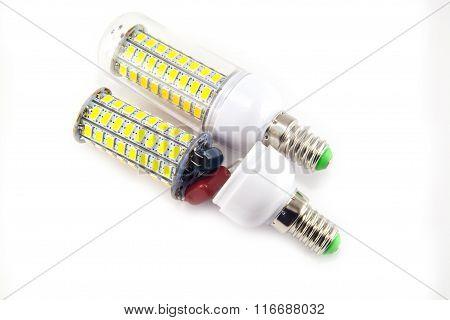 Led Light Bulb Isolated On White Background