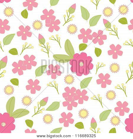 Vector isolated seamless pattern