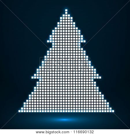 Abstract christmas tree from pixel