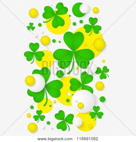 Abstract background for St. Patrick's day party poster.