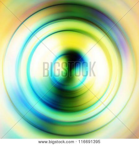 Modern Colorful Geometrical Circles Design. Green Circle.