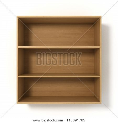 Light Shelves With Three Sections Isolated On White Background