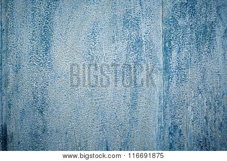 Blue Texture Of Old Colered Wood