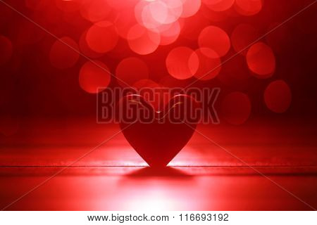 Shiny red heart background