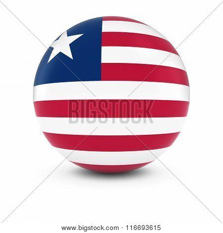 Liberian Flag Ball - Flag Of Liberia On Isolated Sphere