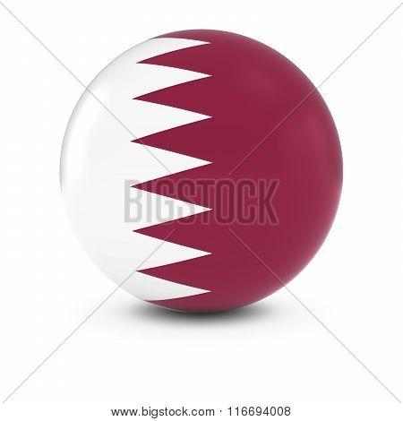Qatari Flag Ball - Flag Of Qatar On Isolated Sphere