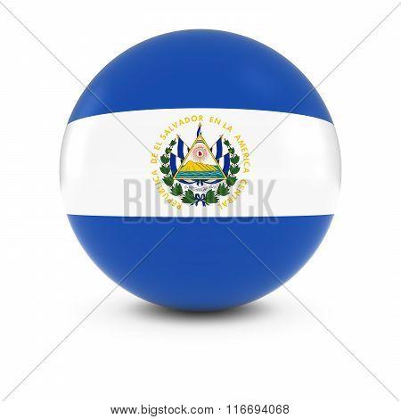 Salvadoran Flag Ball - Flag Of El Salvador On Isolated Sphere
