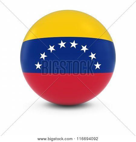 Venezuelan Flag Ball - Flag Of Venezuela On Isolated Sphere