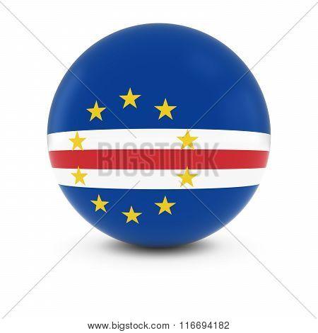 Cabo Verdean Flag Ball - Flag Of Cape Verde On Isolated Sphere