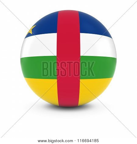 Central African Flag Ball - Flag Of The Central African Republic On Isolated Sphere