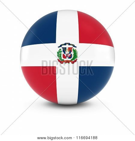 Dominican Flag Ball - Flag Of The Dominican Republic On Isolated Sphere