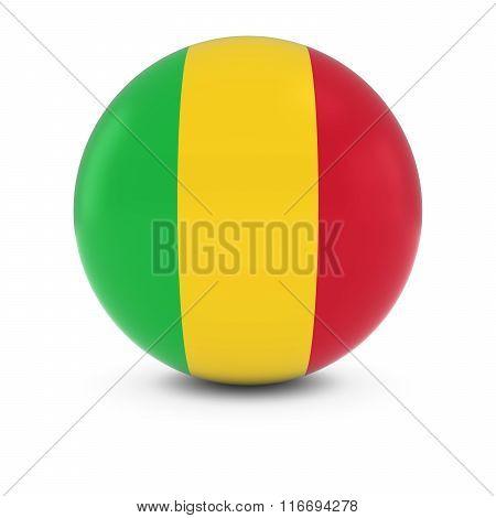 Malian Flag Ball - Flag Of Mali On Isolated Sphere