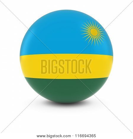 Rwandan Flag Ball - Flag Of Rwanda On Isolated Sphere