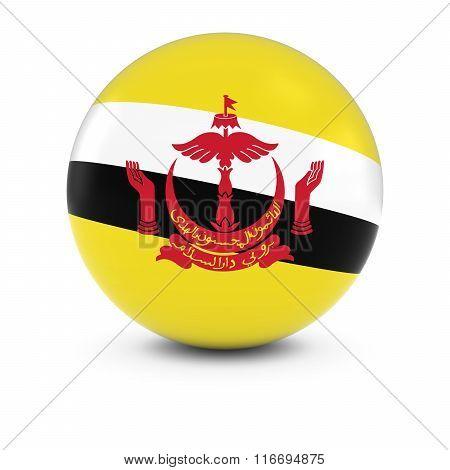 Bruneian Flag Ball - Flag Of Brunei On Isolated Sphere
