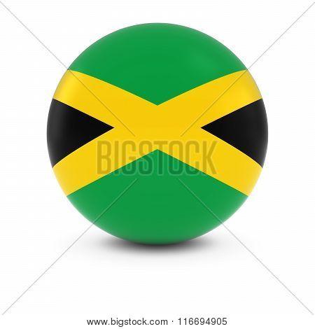 Jamaican Flag Ball - Flag Of Jamaica On Isolated Sphere