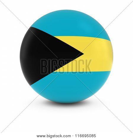 Bahamian Flag Ball - Flag Of The Bahamas On Isolated Sphere