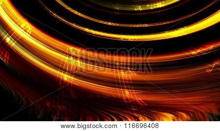 music note and abstrtact color background. light Circle.