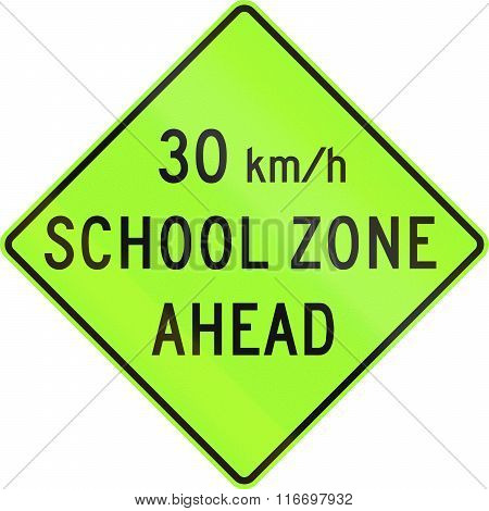 United States Mutcd School Zone Road Warning Sign - Speed Limit Ahead