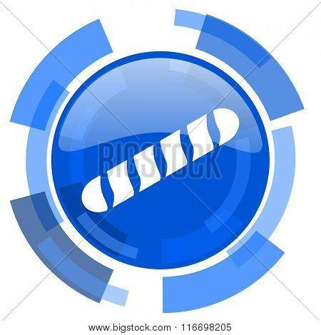 baguette blue glossy circle modern web icon