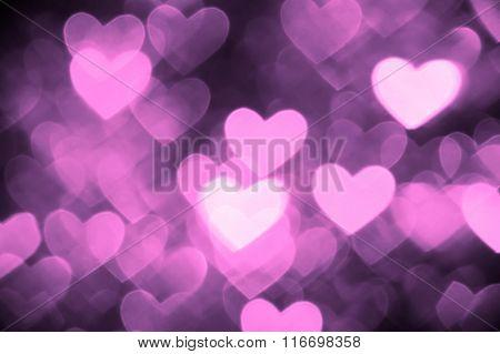 heart background photo purple color