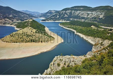 view of Arda River and Kardzhali Reservoir, Bulgaria