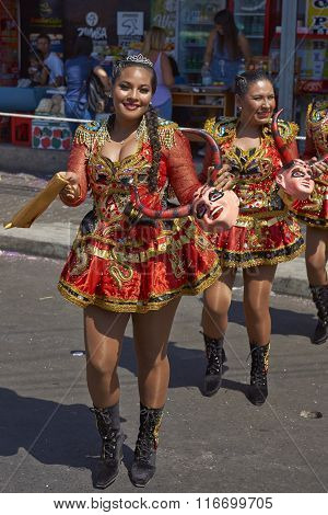 Diablada Dancers