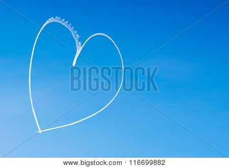 Romantic Heart Written By An Aircraft In The Sky