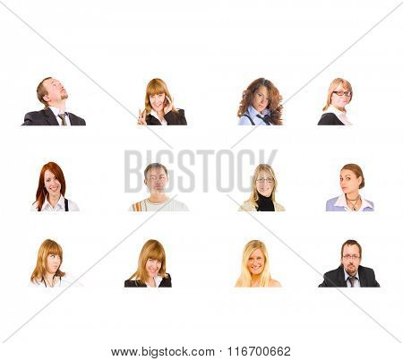 Team over White Office Faces