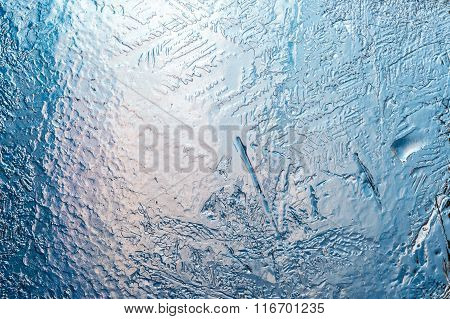 Transparent And Melting Layer Of Ice