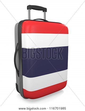 Thailand vacation destination concept of a flag painted travel suitcase