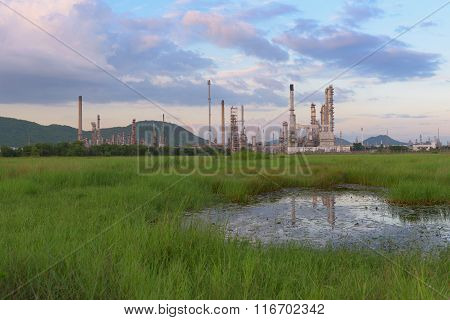 Landscape Of Oil Refinery Plant.