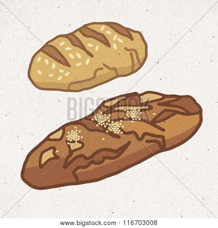 pieces of  healthy bread