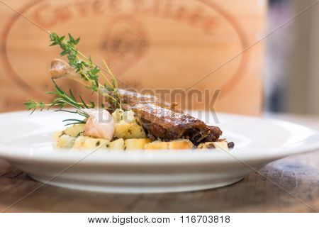 Duck Confit With Salardaise Potatoes