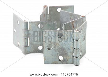 Four door hinges