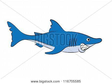Illustration Of A Cheerful Animation Shark