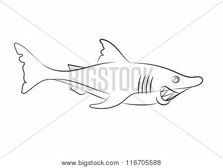 Illustration Of An Animation Shark