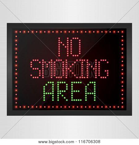 No Smoking Area Notice LED digital Sign