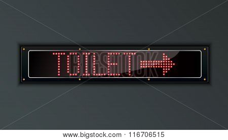 Toilet LED digital Sign
