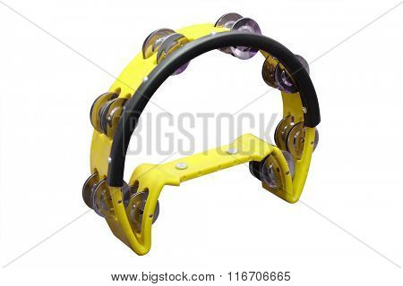 tambourine isolated on the white background