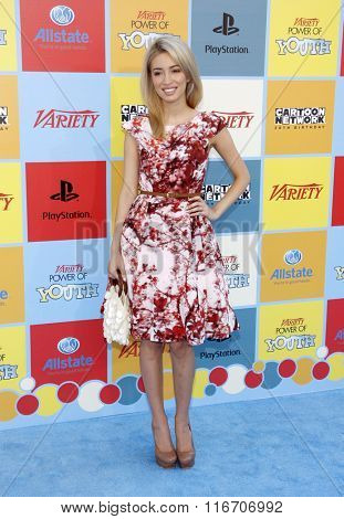 Christian Serratos at the Variety's Power Of Youth held at the Paramount Studios in Los Angeles, United States on September 15, 2012.