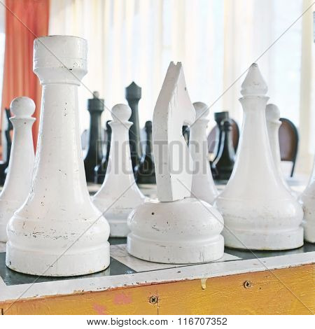 Ð¡loseup of chess pieces