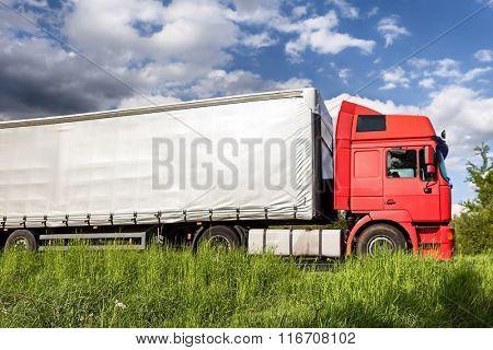 Trucks on a road