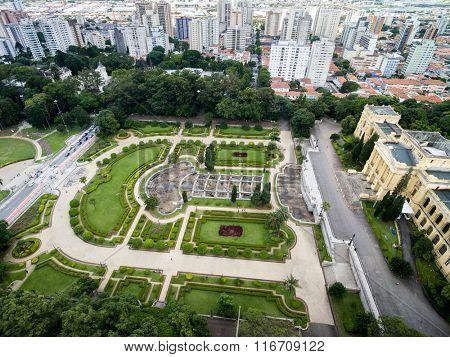 Aerial view of Ipiranga in Sao Paulo, Brazil