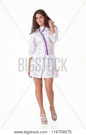 Young Woman In The Medical Uniform