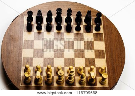 Chess Board Starting Position On Old Magnetic Set