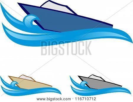 stock logo elegant boat