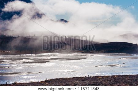 Susitna River And The Clearwater Mountains