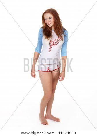 Redhead In Her Underwear