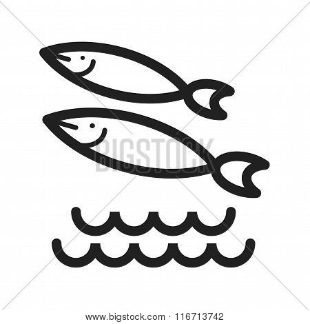 Fish Swimming in Water