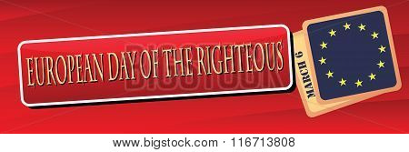 Banner European Day Of The Righteous